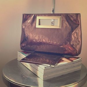 Michael Kors Bronze Patent Clutch - NWOT